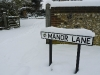 Manor Lane Sign in Winter 2010