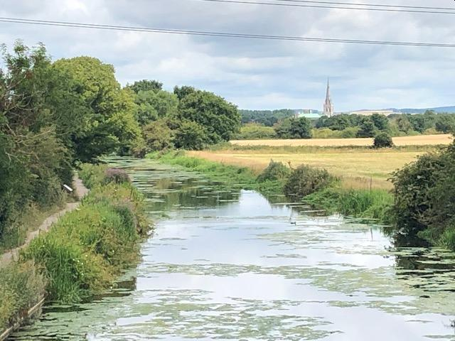 chichester canal towpath looking north